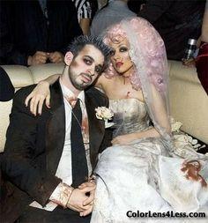 Dead bride and groom