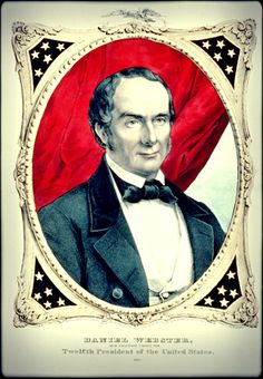 """Daniel Webster sought the Whig Party nomination in 1848, but was defeated by Mexican-American War hero Zachary Taylor. Webster declined the subsequent offer of the Vice-Presidency, saying, """"No thank you, I do not propose to be buried until I am really dead and in my coffin."""" - #history #politics"""