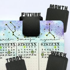 Organize your bullet journal with these planner clips. Hop over here to check them out. Bullet Journal Gifts, April Bullet Journal, Bullet Journal Spread, Planner Tabs, Book Journal, Art Journals, Free Printable Stickers, Bullet Journal Inspiration, Bujo