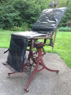A Rare Antique Medical Examining Chair Made By F. Betz U0026 Co.