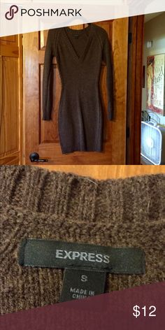 Express brown sweater dress Express brown sweater dress. Size small. Excellent condition! Looks great with tights or leggings. Perfect for fall and winter! Express Dresses