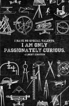 "Canvas Quote Art - ""I have no special talents, I am only passionately curious."" - Albert Einstein. $77.00, via Etsy."