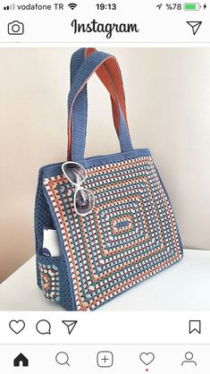 Trendy Ideas for knitting bag sewing crochet Mode Crochet, Crochet Shell Stitch, Crochet Tote, Crochet Handbags, Crochet Purses, Crochet Baskets, Crochet Stitches, Crochet Pattern, Yarn Bag