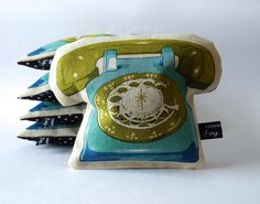 Telephone lavender bag  teal blue and green by IvyArch on Etsy, £8.00