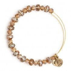 Copper Tinsel Beaded Bangle