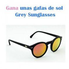 Gana unas gafas de sol Grey Sunglasses ^_^ http://www.pintalabios.info/es/sorteos-de-moda/view/es/4677 #ESP #Sorteo #Complementos