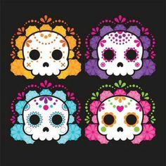 Day Of The Dead Artwork, Cigar Box Crafts, Sugar Skull Art, Pin On, Fiesta Party, Skull And Bones, Wall Art Designs, Tag Art, Diy And Crafts