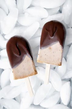 Dreamy Peanut Butter, Banana, & Chocolate Popsicles