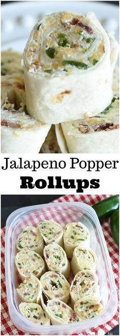 Jalapeno Popper Rollups are a simple, make ahead pinwheel appetizer! They are always a hit!