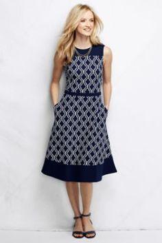 Love this dress - just wish it was a little shoter. Women's Ponté A-line Dress - Pattern from Lands' End