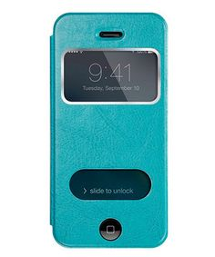 Look at this #zulilyfind! Teal Window Leather  Case for iPhone 4/4s by zulily #zulilyfinds