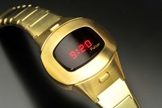 Pulsar P4 Executive (Gold-Filled) Wristwatches, Clocks, Cabinet, Gold, Vintage, Style, Watch, Clothes Stand