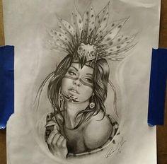 chicano arte Chicano Tattoos, Chicano Drawings, Art Drawings, Mayan Tattoos, Mexican Art Tattoos, Inca Tattoo, Symbol Tattoos, Samoan Tattoo, Polynesian Tattoos