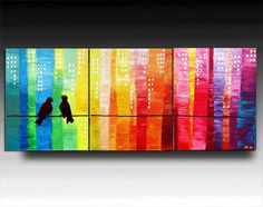 On Etsy by Angelina Z.  48'' Original Contemporary Palette Knife Fine Art Painting Abstract Ready to Hang 48''x20''