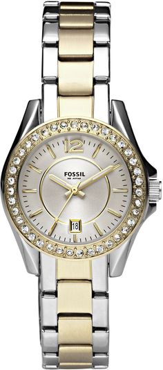 #Fossil #Watch , Fossil Women's ES2880 Riley Mini Stainless Steel Two-Tone Watch