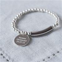 Sterling Pendent Christening Bracelet