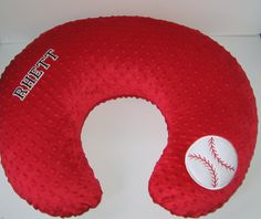 Baseball, Boppy Slipcover, Boppy Cover, Sport Nursing Pillow Cover, Minky Color Choices Baby Shower Gift, Breastfeeding, Nursing, Add A Name