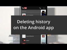Delete your watch history on Android > Löschen Sie Ihre Geschichte auf Android