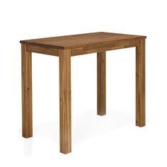 Table haute de bar en acacia Naturel - Amber - Tables hautes et bars - Tables et chaises - Salon et salle à manger - Décoration d'intérieur - Alinéa