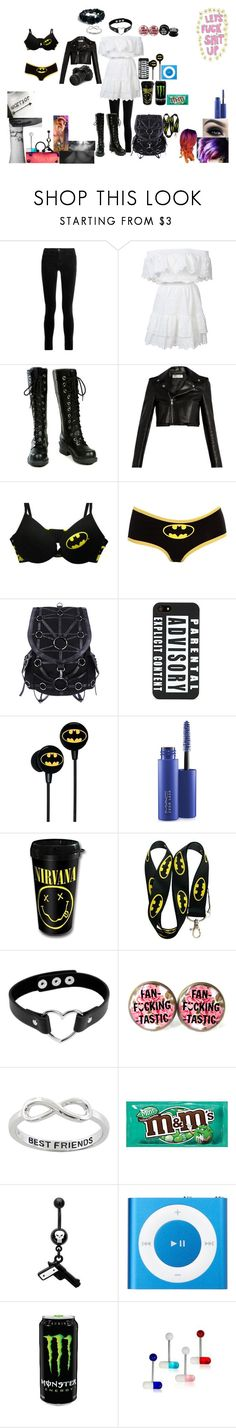 """""""My Outfit For Today~"""" by alice-the-skatergirl ❤ liked on Polyvore featuring J Brand, LoveShackFancy, Nana', Yves Saint Laurent, Torrid, MAC Cosmetics, Too Faced Cosmetics, Eos, Eternally Haute and Marvel Comics"""