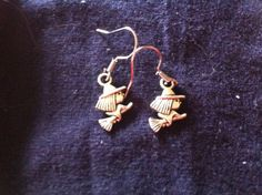 Halloween Witch Earrings by QuiltsFor11Q on Etsy, $4.75
