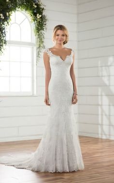 Essense Bridal Collection This backless wedding dress from Essense of Australia is the effortless and ethereal designer wedding dress brides will love! Ethereal Wedding Dress, Lace Wedding Dress, Wedding Dresses For Sale, Backless Wedding, Designer Wedding Dresses, Bridal Dresses, Wedding Gowns, Bridesmaid Dresses, 2017 Wedding