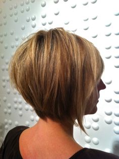 a line short hair cuts | hairstyles for women over 40 / Cute short a-line