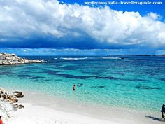 Swimming at Salmon Bay, Rottnest Island - Western Australia
