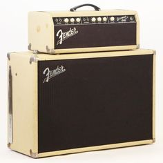 For sale is this 1961 Fender Bassman -Amp vintage piggyback bass and guitar amplifier. This example, serial number BP02264, is in very excellent 100% all original condition. Aside from evidence of holes from small non-factory casters on the bottom of the speaker cabinet, this example is otherwise...