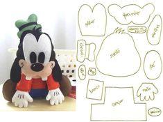 Muñecos con Fieltro: Disney Goofy