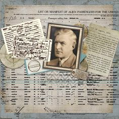 The Journey ~ use family documents on your heritage page to tell the story.
