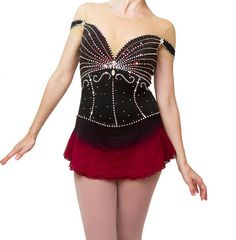 This dress can be used for all sorts of events! Figure skating, dance, baton twirling competitions, and generally anything else that requires a stretchy, sparkly dress! It is made of stretch mesh and lycra, and is hand dyed with care. The fabric has a great stretch to it. All of