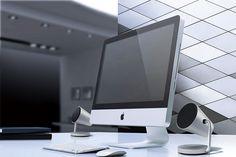 ヤマハスピーカー スポットライトモチーフ パソコンとの組み合わせ例
