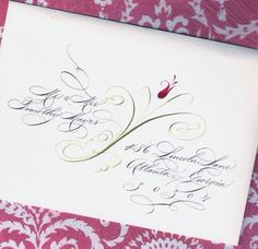 Lettre; seen on Lori Mar's board. I love adding design to my calligraphy too.