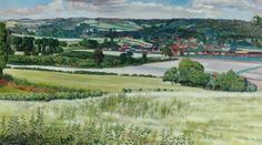 Stanley Spencer.Cookham from Cookham Dean
