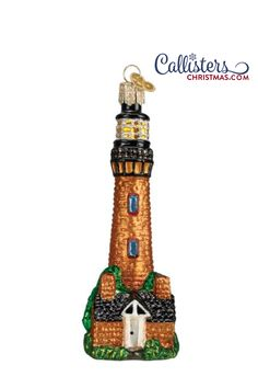 Commemorate your North Carolina vacation with our Currituck Lighthouse Ornament! Fun gift for your lighthouse lover or sailor! Perfect for anyone into vintage seafaring or nautical history. Great way to commemorate your outer banks vacation. Old World Christmas Ornaments, Christmas Gift Box, Christmas Decorations, North Carolina Vacations, Outer Banks Vacation, Ornament Hooks, Personalized Ornaments, How To Make Ornaments, Lighthouse