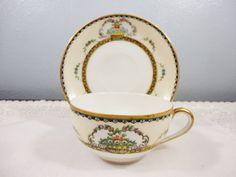 "Rare Antique Noritake ""Blenkeim"" Bone China Tea Cup and Saucer"