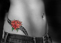 side tattoos - i don't like this tat but i love the spot & placement