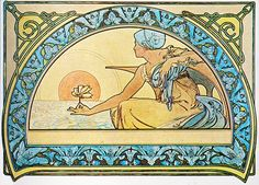 Alphonse Mucha - P23 Nenuphar/Waterlily, 1898. | P23 Nenupha… | Flickr