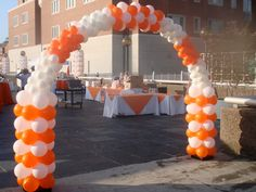 Invite guests in   with an entrance arch