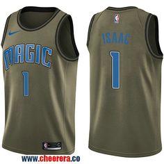 Men s Nike Orlando Magic  1 Jonathan Isaac Green Salute to Service NBA  Swingman Jersey Orlando adad642b3
