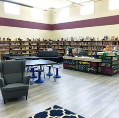 From Library to Learning Commons: The Transformation of an Elementary School LLC – This Librarian Reads Elementary Library, Elementary Schools, Classroom Rewards, School Librarian, Workspace Design, Learning Spaces, School Design, This Or That Questions, Literacy