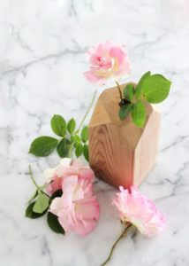 mother's day wood bud vase DIY from coco kelley