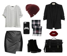 """""""Black day"""" by gagarance ❤ liked on Polyvore featuring River Island, Hogan, Lands' End, Lime Crime and Dr. Martens"""