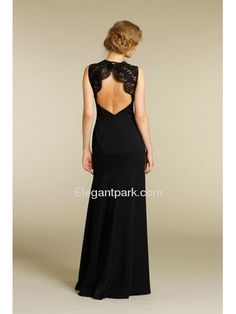 Black Cap Sleeve Floor-length Chiffon Bridesmaid Dress (AV9228) - If only I could go to a military ball I would so wear this :(