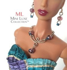 OOAK Doll Jewelry for Fashion Royalty dolls, Poppy Parker, Barbie dolls #MiniLuxeCollection #dolljewelry