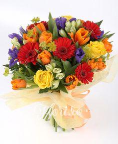 Vibrația culorilor Gerbera, Iris, Floral Wreath, Wreaths, Home Decor, Irise, Decoration Home, Room Decor, Irises