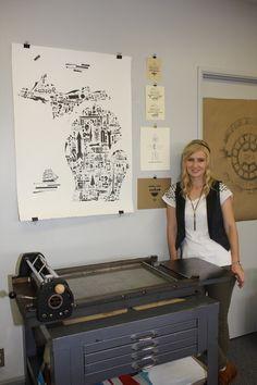 Letterpress #artist builds a #handmade business one letter at a time. #Woman #Entrepreneur