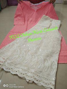 Chikankari kurtis digital print pure cotton chikan embroidery work kurtis plazo