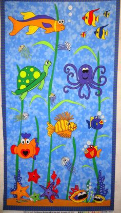 Under The Sea Baby Quilt For Baby Kevin This Is A Crazy